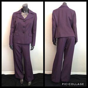 Kasper Suit Set, purple pantsuit suit jacket pants